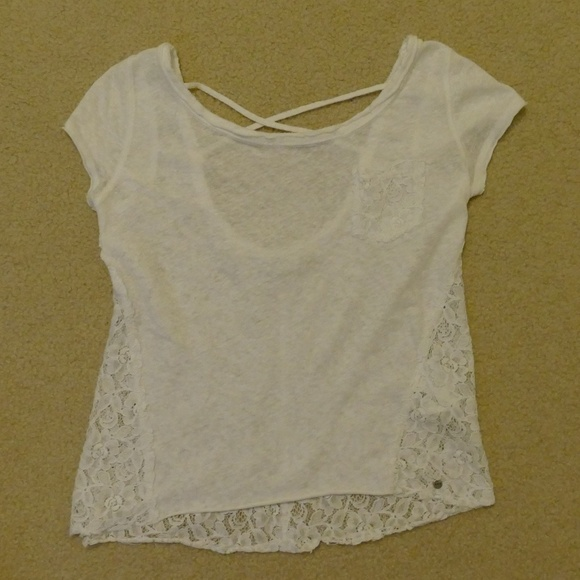 Abercrombie & Fitch Tops - Abercrombie & Fitch Lacy, Strappy-Back Top